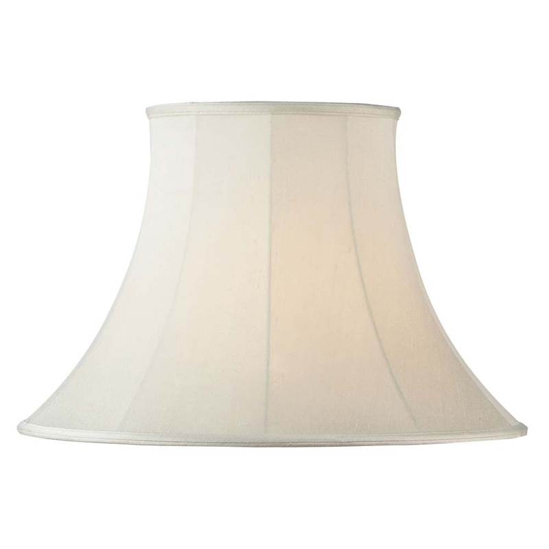 CARRIE Cream Round Bell Lamp Shades from Endon Lighting | WWSM